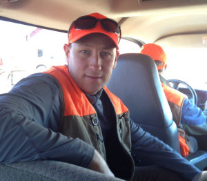 Me in the hunting van